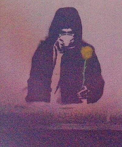 großes Stencil, Blumen schenken, Steilshoop Hamburg