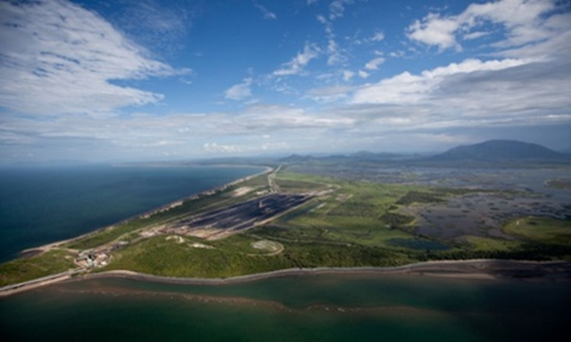 Aerial view of Abbot Point, the most northerly deepwater coal port in Australia. Two of the board members of the authority that approved the dumping of 3 million cubic metres of dredging spoil in the Great Barrier Reef waters are still involved in an investigation for potential conflicts of interest, including links to mining companies. Photograph: AAP