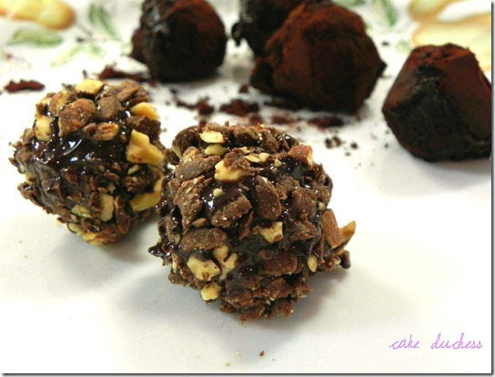 Tartufi Al Cioccolato Chocolate Truffles And Dove Chocolate