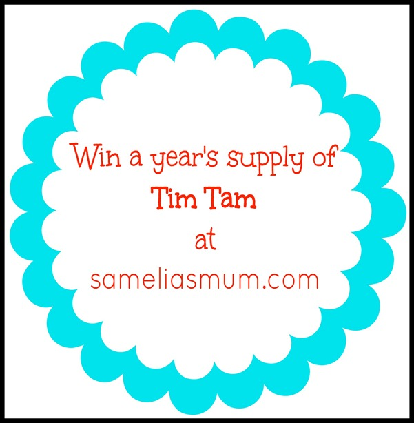 A years supply of Tim Tam