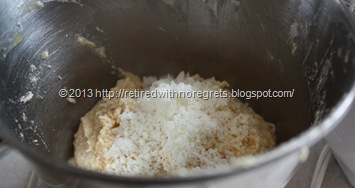 Sugar Crusted Tropical Muffins - adding coconut