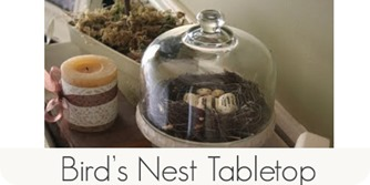 Birds nest tabletop