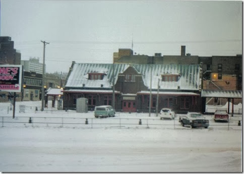 Old Soo Line Depot in Minot, North Dakota in December 2002