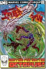 The spectacular spider-man #72 al #70, la batalla mas larga epica y final entre el Doc Ock y spidey comienza aqui, simplemente de antologia.