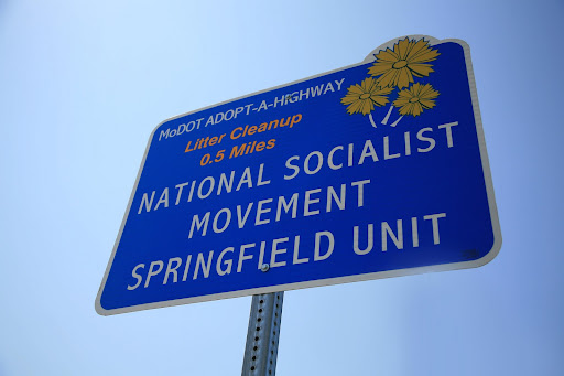 A stretch of West Bypass has been adopted by the National Socialist Movement Springfield Unit.   (Photo Credit: Alex Crowder)