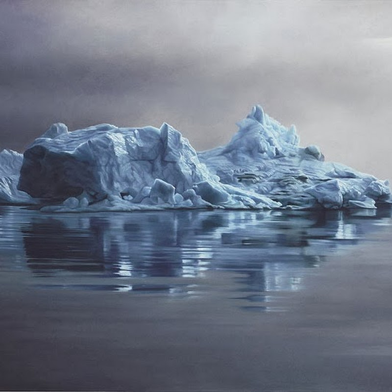 Realistic Finger-paintings of Icebergs by Zaria Forman