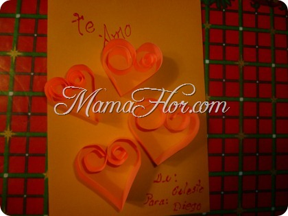 Tarjeta de Amistad: con Papel de colores | San Valentín día del Amor