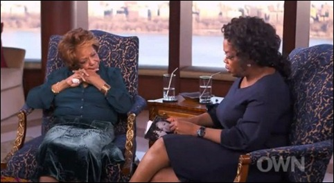 Cissy Houston and Oprah Winfrey