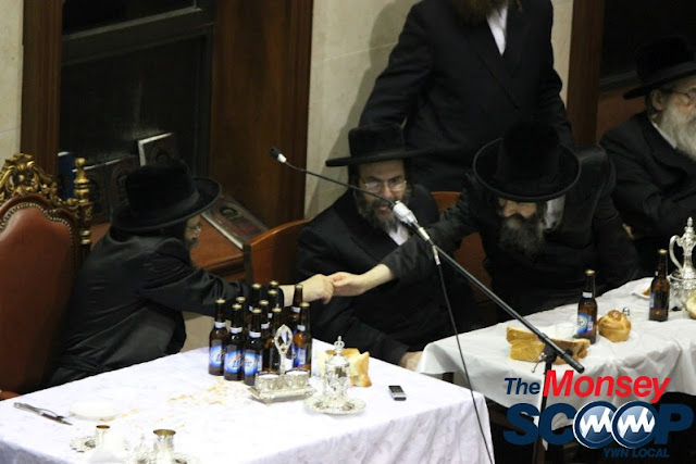 Yartzheit Tish For Stamar Rebbe Held In Satmar Beis Medrash Of Monsey (Photos by Moshe Lichtenstein) - IMG_5557.JPG