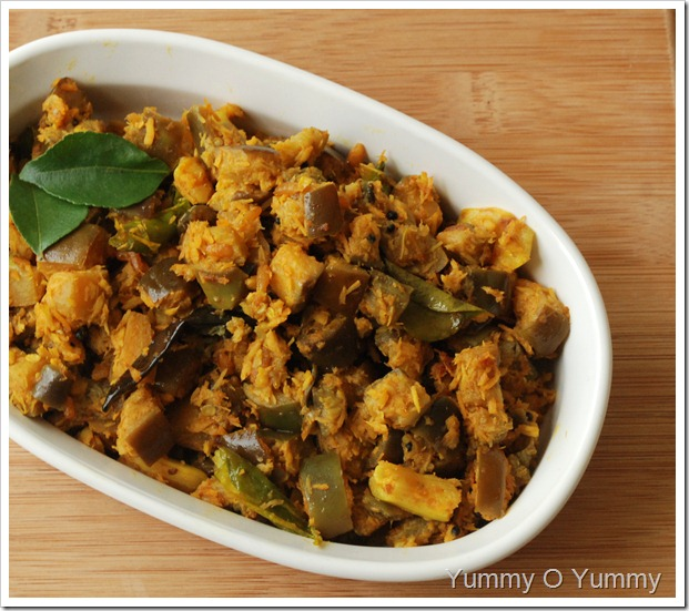Vazhuthananga Thoran / Eggplant Thoran