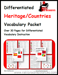 Teach Vocabulary to all levels of English Language Learners with this free week-long vocabulary packet.