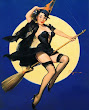 Broom Wiccan Moon