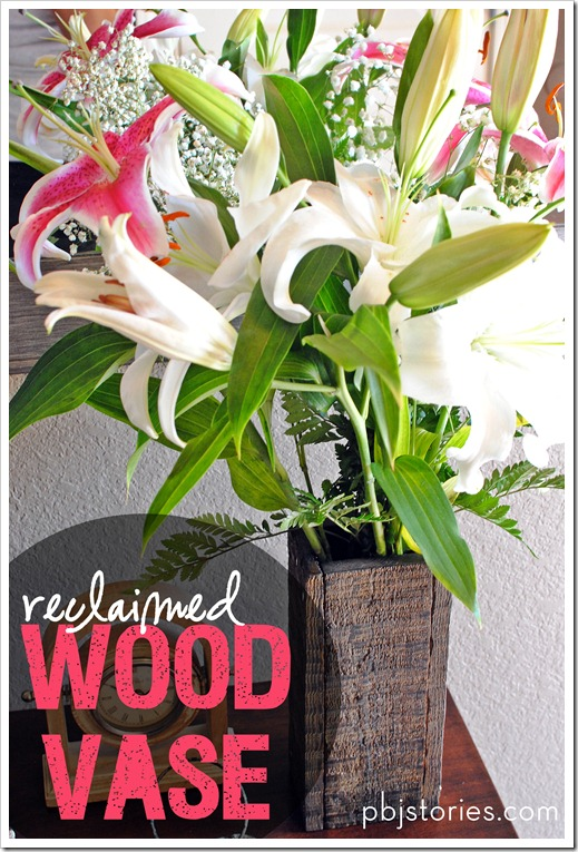 PBJstories reclaimed wood flower vase