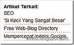 Daftar Artikel Terkait Pada Blogspot