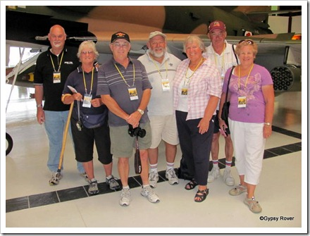 The gang next to an A4 Skyhawk at the Air Force museum Wigram.