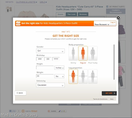Cookie's Kids Alva Sizing App