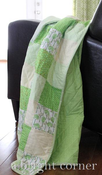 summertime baby quilt