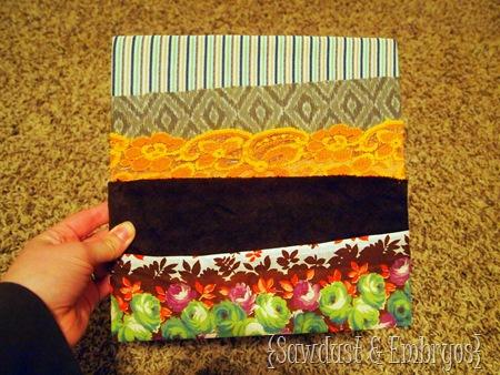 Pocket organization using fabric! {Sawdust and Embryos}