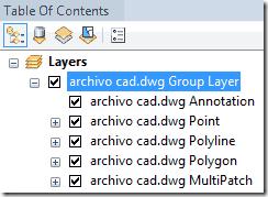 archivo de autocad arcmap