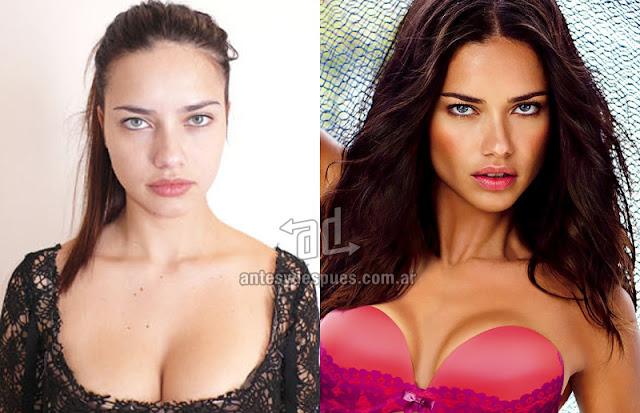 Fotos de la modelo Adriana Lima sin maquillaje