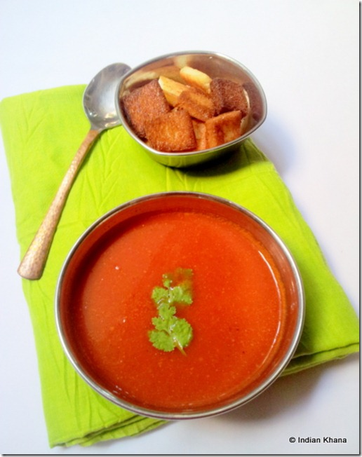Indian style tomato soup recipe