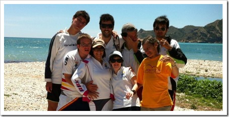 La Asociación Pádel para Todos, campeona de España de pádel adaptado en categoría mixta.