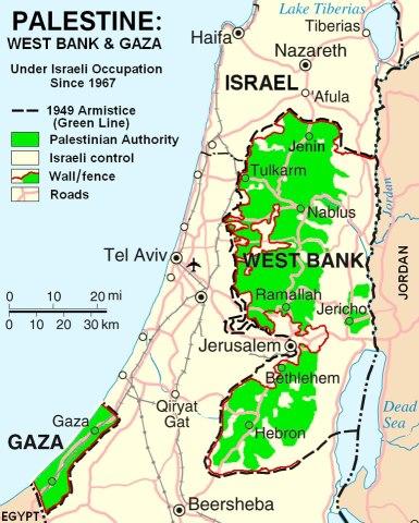 peta-wilayah-Palestina-dan-israel-jalur-gaza-dan-tepi-barat
