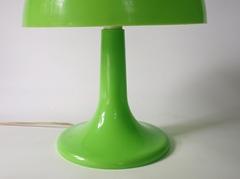 green mushroom lamp