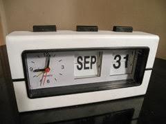 alarm clock flip calendar