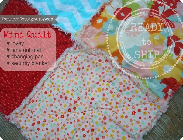 Mini Quilt - Blankie!! ready to ship {NorthernCottage}