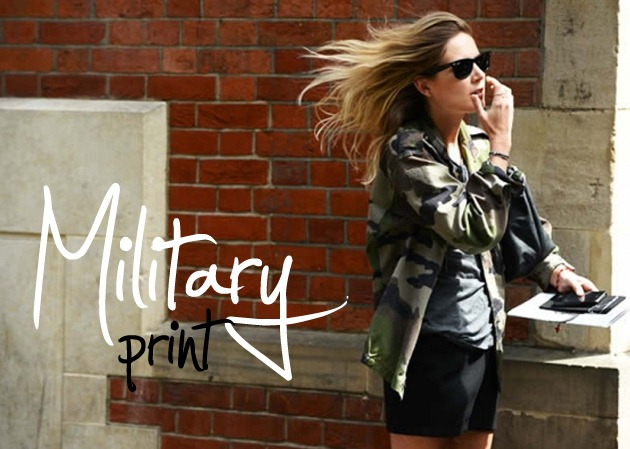 How to wear: Military Print