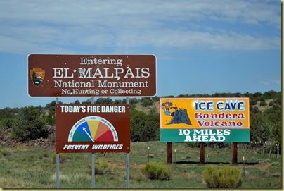 El Malpais sign