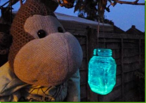 Spooky and magical glowstick lantern