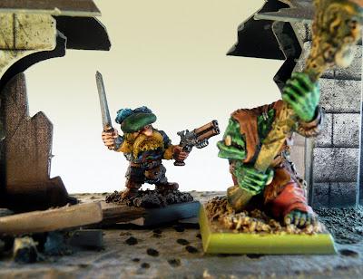 Dwarf Noble battles Orc Shaman