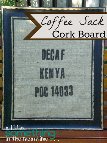Coffee Sack Cork Board