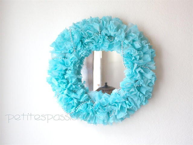 dryer sheets wreath
