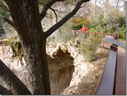 Standing on the Natural Bridge