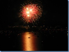 8298 Ontario Kenora Best Western Lakeside Inn on Lake of the Woods - Canada Day fireworks from our room