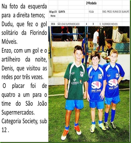 Sub 12 - Sao Joao Vence a equipe do Florindo Moveis