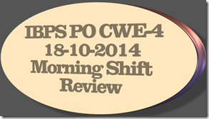 ibps po 18-10-2014 morning shift
