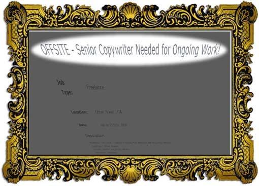 Copywriter wanted