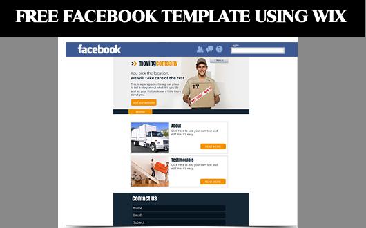 wix facebook template