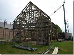 Kortessem, Printhagendreef: schuur en bakhuis van het kasteel Printhagen worden gerenoveerd