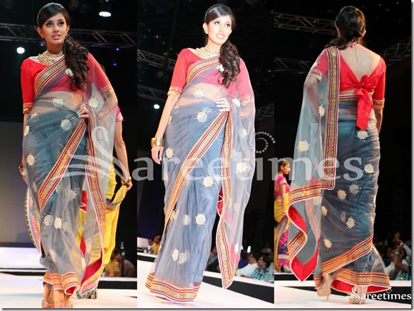 Grey_Embroidery_Net_Saree