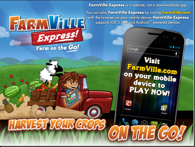 FarmVille Express Loading Screen