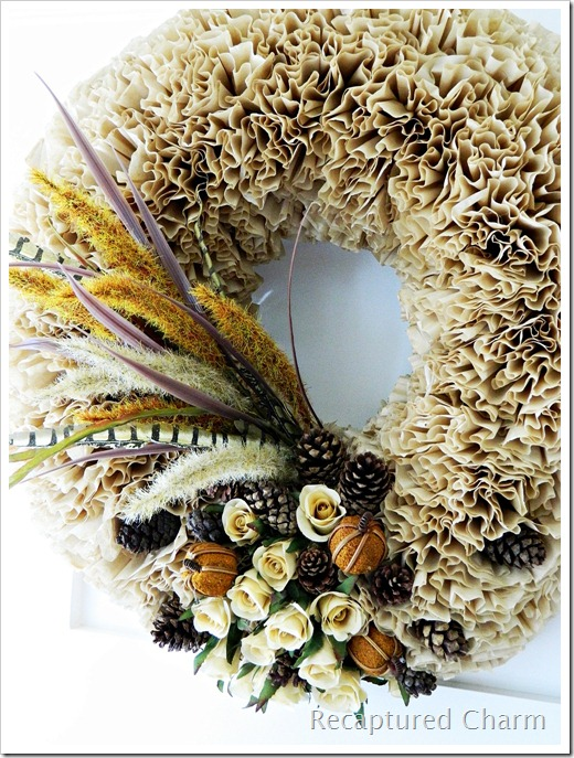 Fall Coffee Filter Wreath 2 007a