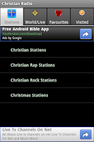 Screenshot of Christian Radio