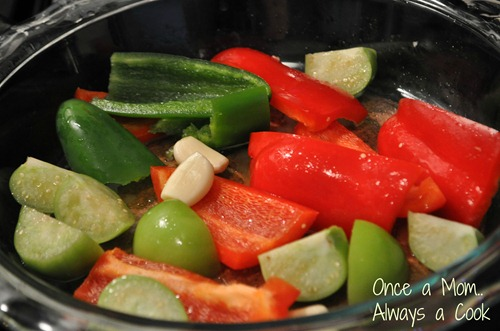 Roasted Red Pepper, Tomatillos, Garlic, Jalapeno