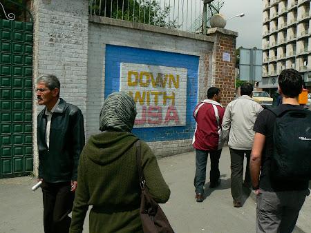 Anti US graffitti in Tehran