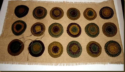 penny rug stitching